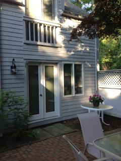 Lovely shaded Patio with entrance from 1st floor Master Bedroom