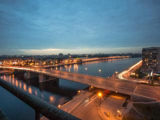 Panoramic apt on the Neva bank