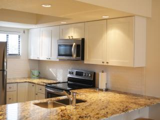 Completely renovated kitchen with new appliances, granite countertops and new cabinets.