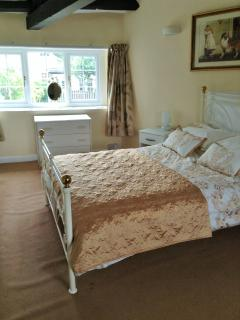Bedroom 2 - Large double room with sink unit and large wardrobe