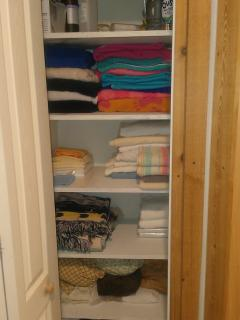 Hall Closet - Fully Stocked - Towels, Extra Sheets, Emergency Kit