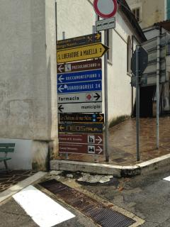 Signs in the village to local attractions e.g. Passo Lanciano 19km