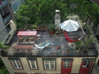 Shared roof top terrace - a great place for a beer in the evening