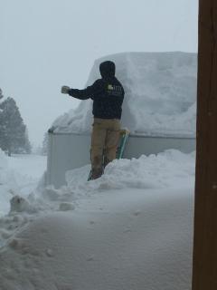 Shoveling a little snow
