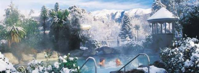 Internationally acclaimed Hanmer's Thermal pools, hot and cold natural waters.