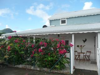 Grande villa créole dans son écrin fleuri. Piscine. Plage à 800m