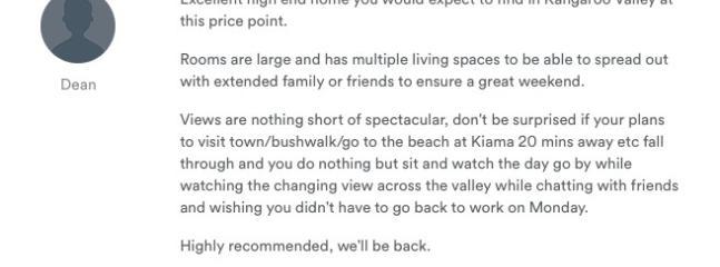 Guest review Dec 2014