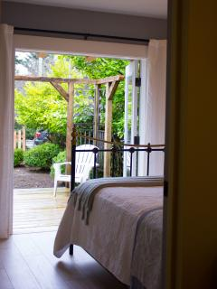 Master bedroom opens out to it's own little deck