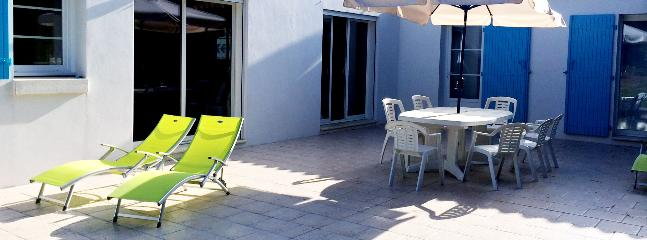 Large terrace for eating and enjoying the sun
