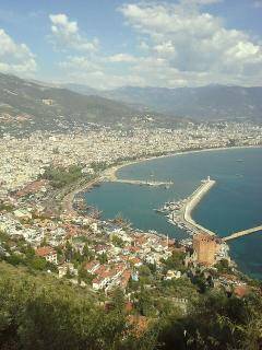 View of Alanya & Harbour from Red Castle