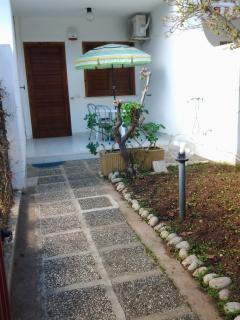 giardino con veranda