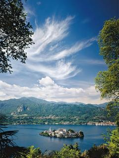 The magical island of San Giulio, the gem in Lake Orta's crown. Accessible by private & public boat