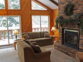 Located at Base of Powderhorn Mtn in the Western Upper Peninsula, A Large Trailside Home with Spacious Living Room with Large Windows, Ironwood