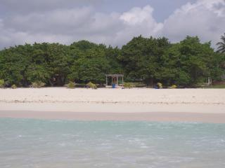 Beautiful white sand beach only a 1-2 minutes walk from villa