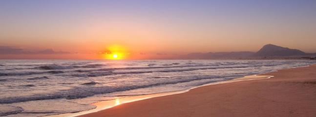 Sunrise, looking towards Denia (20 km.)