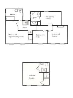 Floor plan of first and second floor