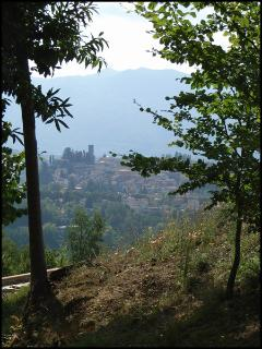 Barga in the distance