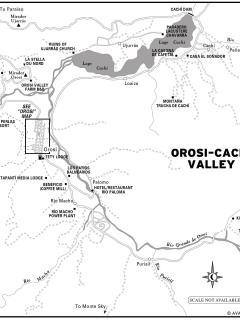 mapof the Orosi lake area