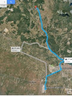 Mapa desde aeropuerto a N'Aiguardent