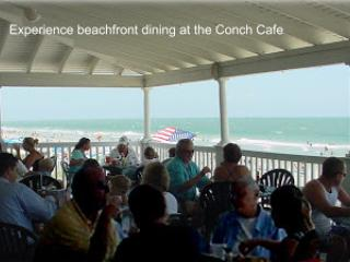 OUTDOOR DINING AT THE CONCH CAFE