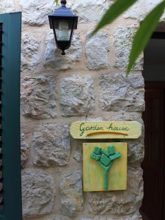 Garden house-the entrance