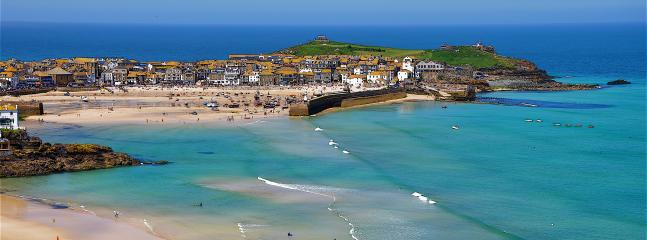St Ives harbour, jewel of the North Cornish Coast, is 10 minutes by car