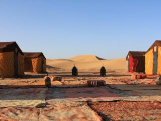 Our desert camp in Erg l'Houdi