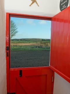 View through half door