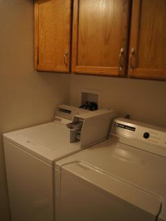 Laundry Facility - Quarters, Laundry Soap & Dryer Fabric Softener Tissues Provided.