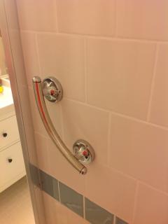 Safety bar in shower