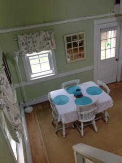 Dining area from stairs