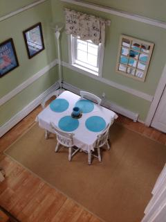 Dining area from bedroom railing