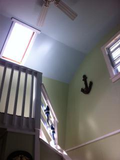 skylight on stairs