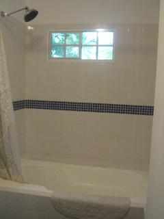Second floor bathroom, combination tub and shower