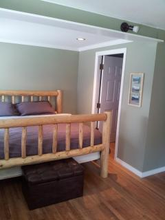 King log bed in cottage