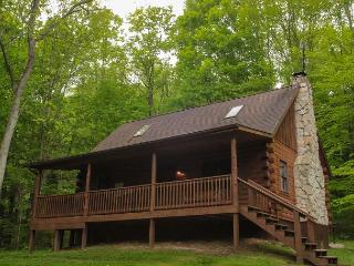Secluded Hocking Hills Log Cabin, South Bloomingville