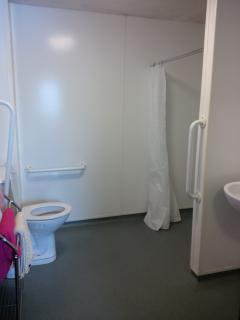 You could party in the bathroom! It is a wet room suitable for wheelchair users.