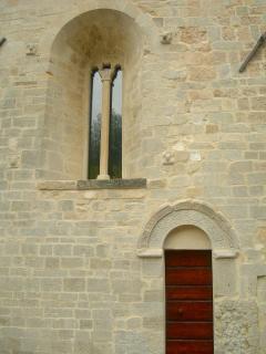 Particolare di una porzione della facciata