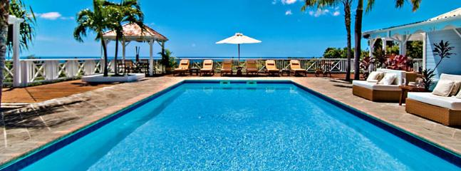 SPECIAL OFFER: St. Martin Villa 63 This Hillside Villa Has A Créole Flavor And A Wonderful View Of Baie Longue., Terres Basses