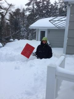Susan is 5 foot five. Quite the snowbank.