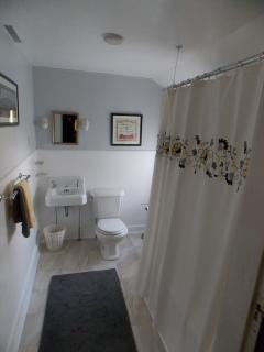 Full bath with tub... one of four bathrooms on the 2nd floor