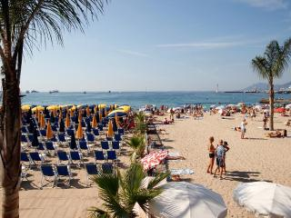 7 min walk palais/beach free wifi and car parking