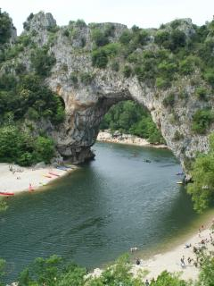 canoe upon the ardeche river