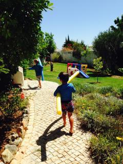 Running around the garden!