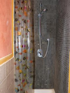 Bathroom with large shower space