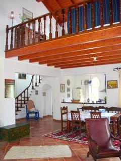 Dining area of villa Lefka