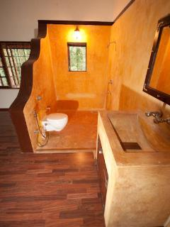 Bedroom 3 - open bathroom. Had a shower with your partner in the open before?