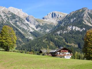 The location of Haus Heidi, surrounded by alpine meadows