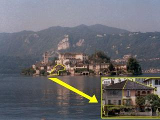 Villa Monziani, 17th C lakeside villa on island with boat, mainland garage. 5 bedrooms, 4 bathrooms