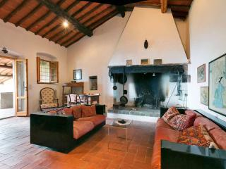 Casa Querceto - The main Salon with Fireplace